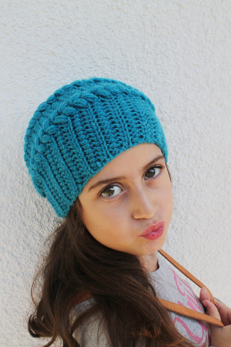 Girls Slouchy Beanie Girls Crochet Hat Kids Beanie Hat Kids  0f638f4107f