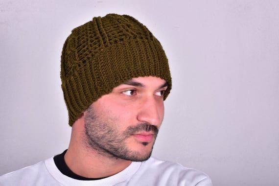 Warm Hat for Men Handmade Beanie men Mens Beanie Hat  e20701bcd01