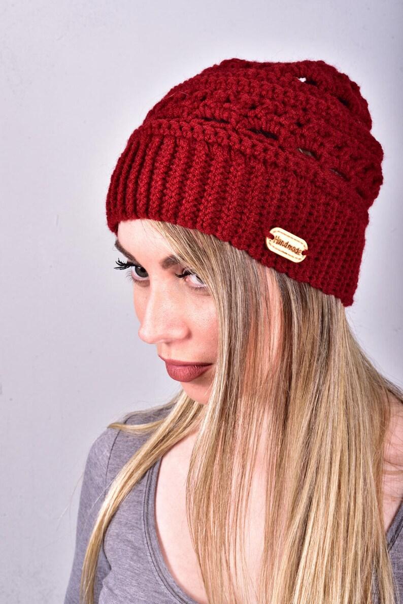 24f80a74b61 Crochet Beanie Women Crochet Beanies Red Beanie Red Crochet