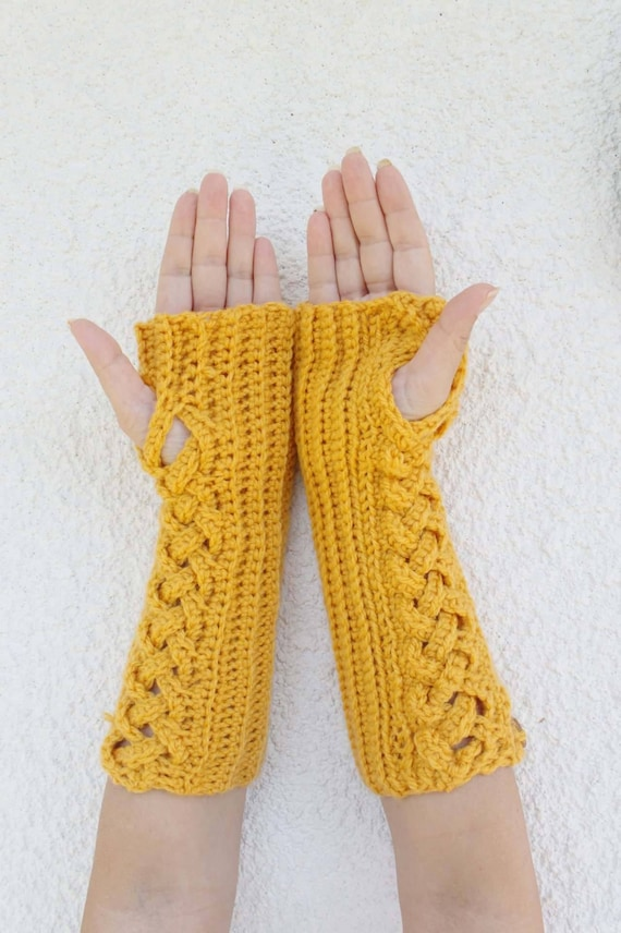 Fingerless Wanten Vingerloze Handschoenen Haak Vingerloze Etsy