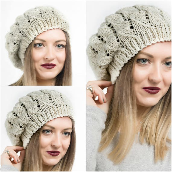 Knit Beanie Hat Knit Beanie Knit Hat Beanie Hat for her  1866f76ffcf