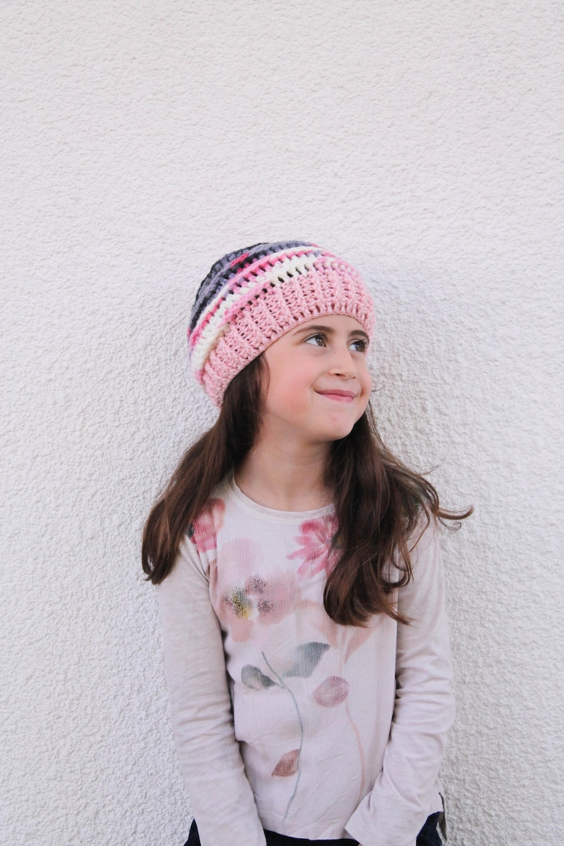 99562abc1ea Girls Slouchy Hat Crochet Beanies Girls Kids Beanies Girls