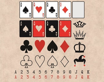 Playing Cards Svg,  Hearts, Spades, Clubs, Diamonds, Ace, Cards svg, Poker Cards, Royal Flush, Gaming Cards, Gambling, Casino svg, Betting