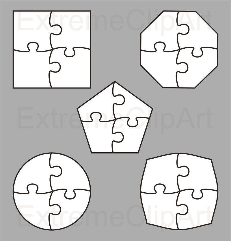 coaster size template - coaster jigsaw puzzle template collection dxf eps svg zip