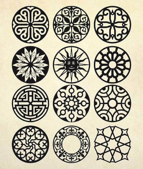Coasters Stencil Svg Mandala Vector Patterns Vector Panels Etsy