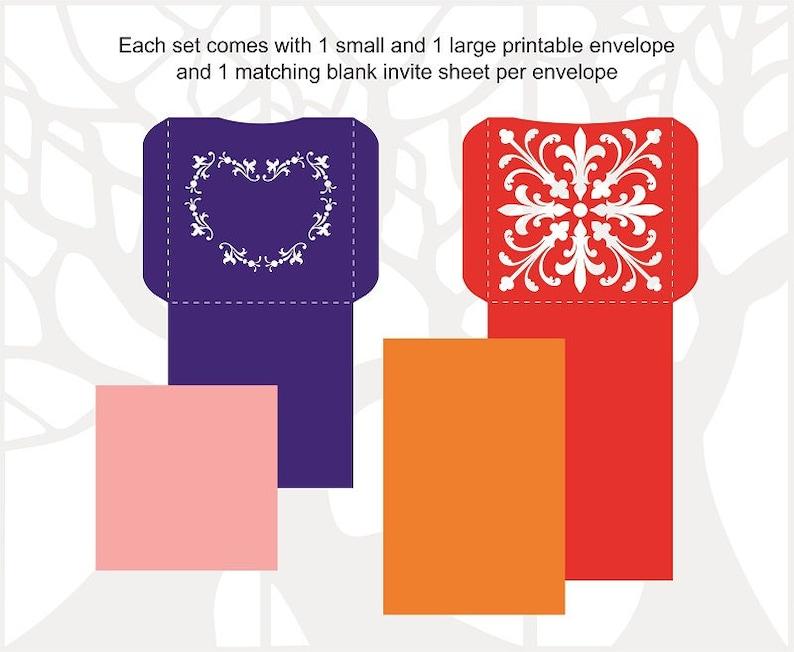 Cricut envelope svg Silhouette SVG Template Cut file Instant Download Laser Cuttable Pocket Envelope Template Wedding Envelope SVG