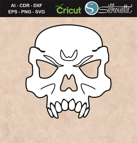 Skull Face Mask Drawing