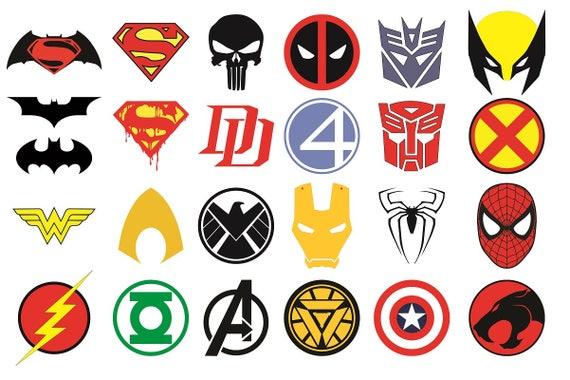 Superhero Logos Vector Superhero