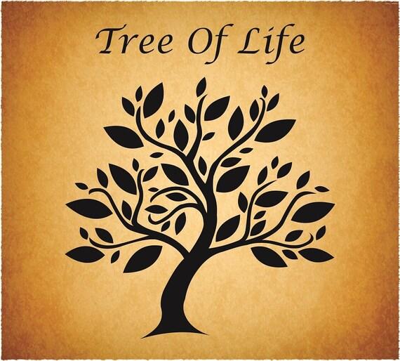 Tree of Life svg, Love Tree, Tree cut file, Vector Tree, Tree Silhouette,  Tree illustration, tree Clipart, Tree of life digital download