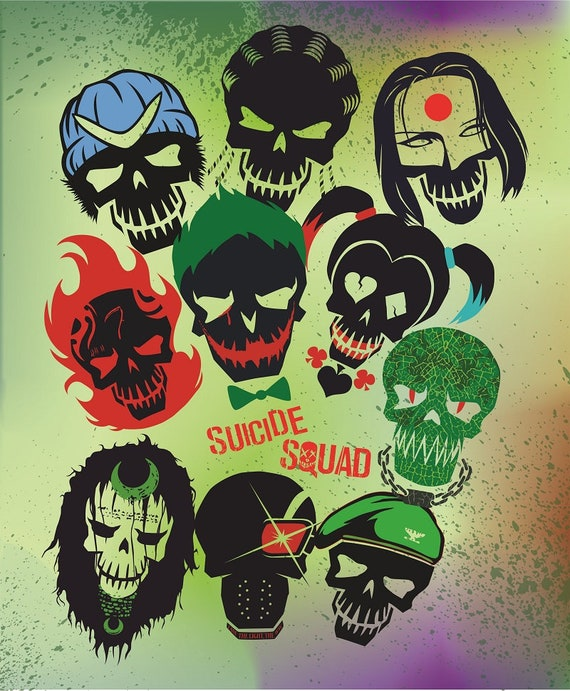 Suicide Squad Svg Suicide Squad Clipart Joker Svg Harley Etsy