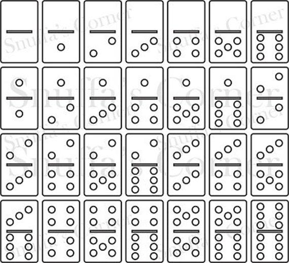 Instand Download 1 X 2 Domino Vorlage Festlegen Etsy