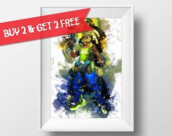 Symmetra Overwatch Poster Art Print Watercolor Wall Decor Game Print Poster