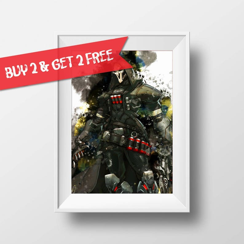 A4 A3 A2 A1 A0| Overwatch Reaper Game Poster Print T523