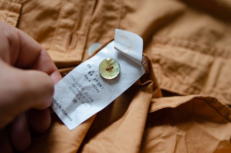 Vintage CERRUTI JEANS Saharienne Dress Women/'s Orange Dress Safari Size L