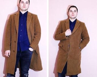 Vintage Aquascutum Men Wool Cashmere Over Coat Runs Size M-L, Genuine