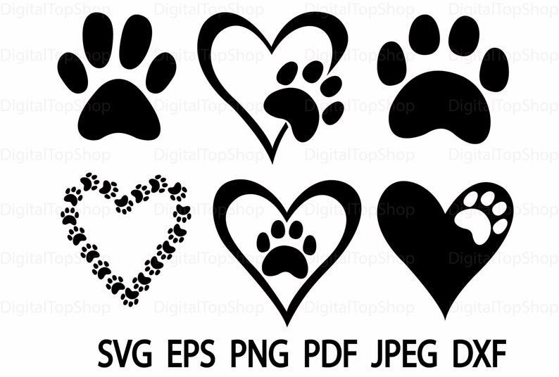 photograph relating to Printable Paw Prints named Paw SVG Slicing Record Dxf Printable Paw Clipart SVG Cricut Silhouette Rescue Puppy Paw Vet Paw Print PNG Vector Cameo