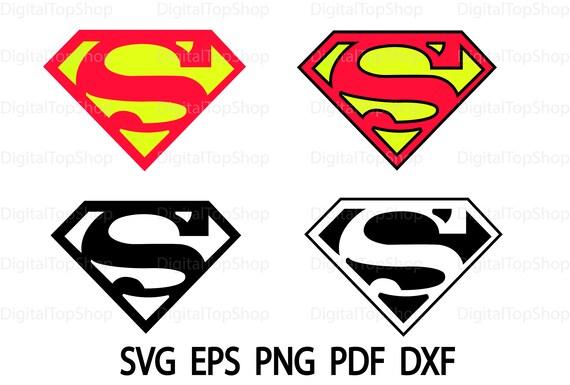 Superman Logo Svg Superman Logo Vektor Superman Logo Clipart Etsy