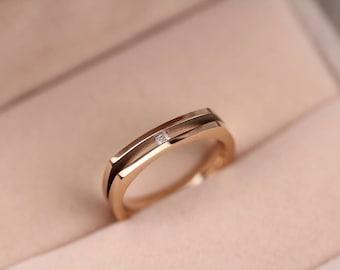14k Rose Gold rings for lovers