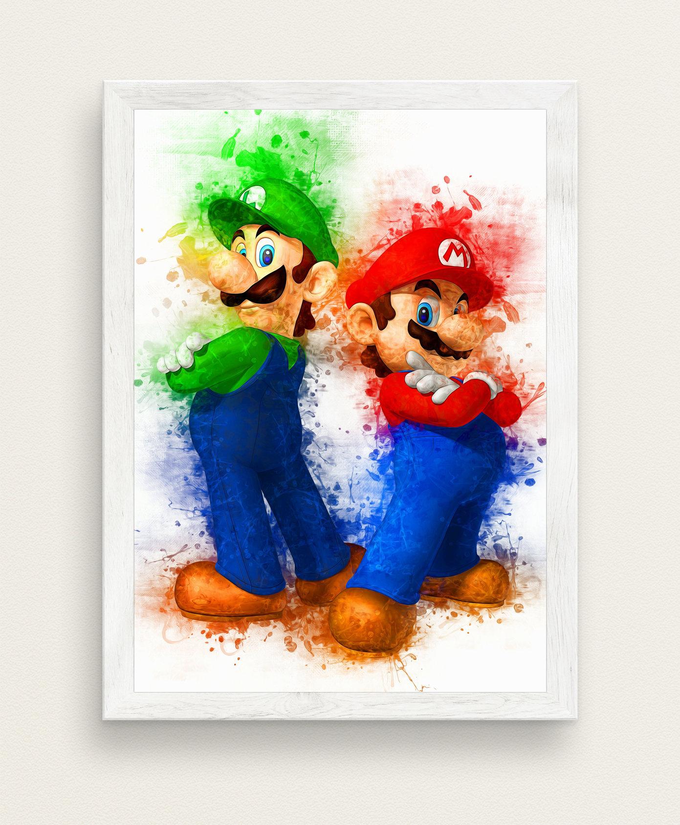 Brothers Super Mario Bros Poster Video Game Nintendo