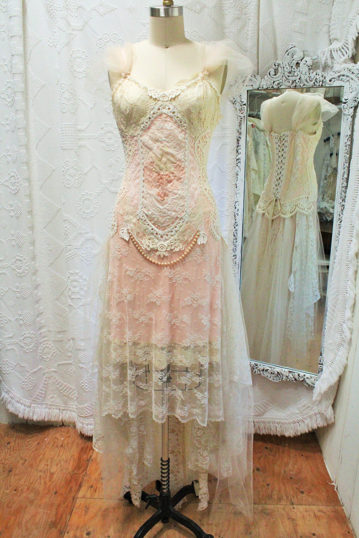 Victorian Inspired Wedding Dressshabby Chicrustic Bohemian Wedding