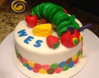 Very Hungry Caterpillar Cake Toppers