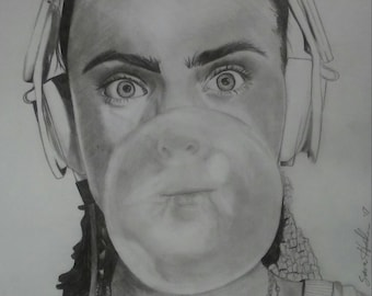 Cara Delevingne Charcoal with Bubble