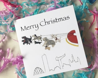 Puppy christmas card etsy glasgow christmas cards dogs sleigh xmas card glasgow skyline puppy christmas card dogs xmas cards greetings card cute puppy adorable m4hsunfo