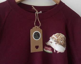 Hedgehog Christmas Sweater.Hedgehog Sweater Etsy