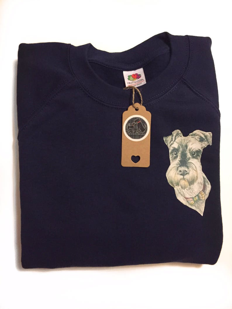 ce117bd4 Cute schnauzer jumper schnauzer gifts dog bow tie print | Etsy