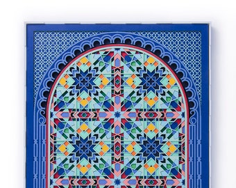 Moroccan Design, Original Paper Cut Art Sacred Geometry, Paper Anniversary Gift, Laser Cut Wall Decor, 3D Paper Sculpture, Arabic Geometry