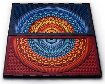Papercut Art, Spiritual Mandala, Geometric Design Paper Sculpture, Paper Anniversary Gift, 3D Papercraft Wall Décor, LaserCut, Home Decor