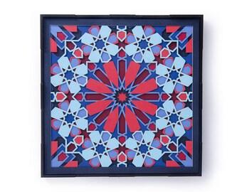Miniature Mandala Papercut 3D Art, Laser Cut Wall Decor, Sacred Geometry, Moroccan Wall Mural, Art Frame Wall Hanging Handmade Designer Gift