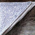 Baby dribble bib - TINY DIAMONDS PRINT - Organic cotton jersey - Bamboo terry - adjustable - perfect for teething babies.