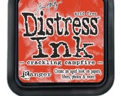 New Color - Tim Holtz Distress INK PAD by Ranger Crackling Campfire