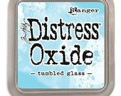 Tim Holtz Distress OXIDE INK by Ranger Tumbled Glass