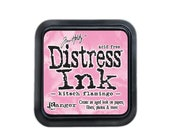 New Color - Tim Holtz Distress INK PAD by Ranger Kitsch Flamingo
