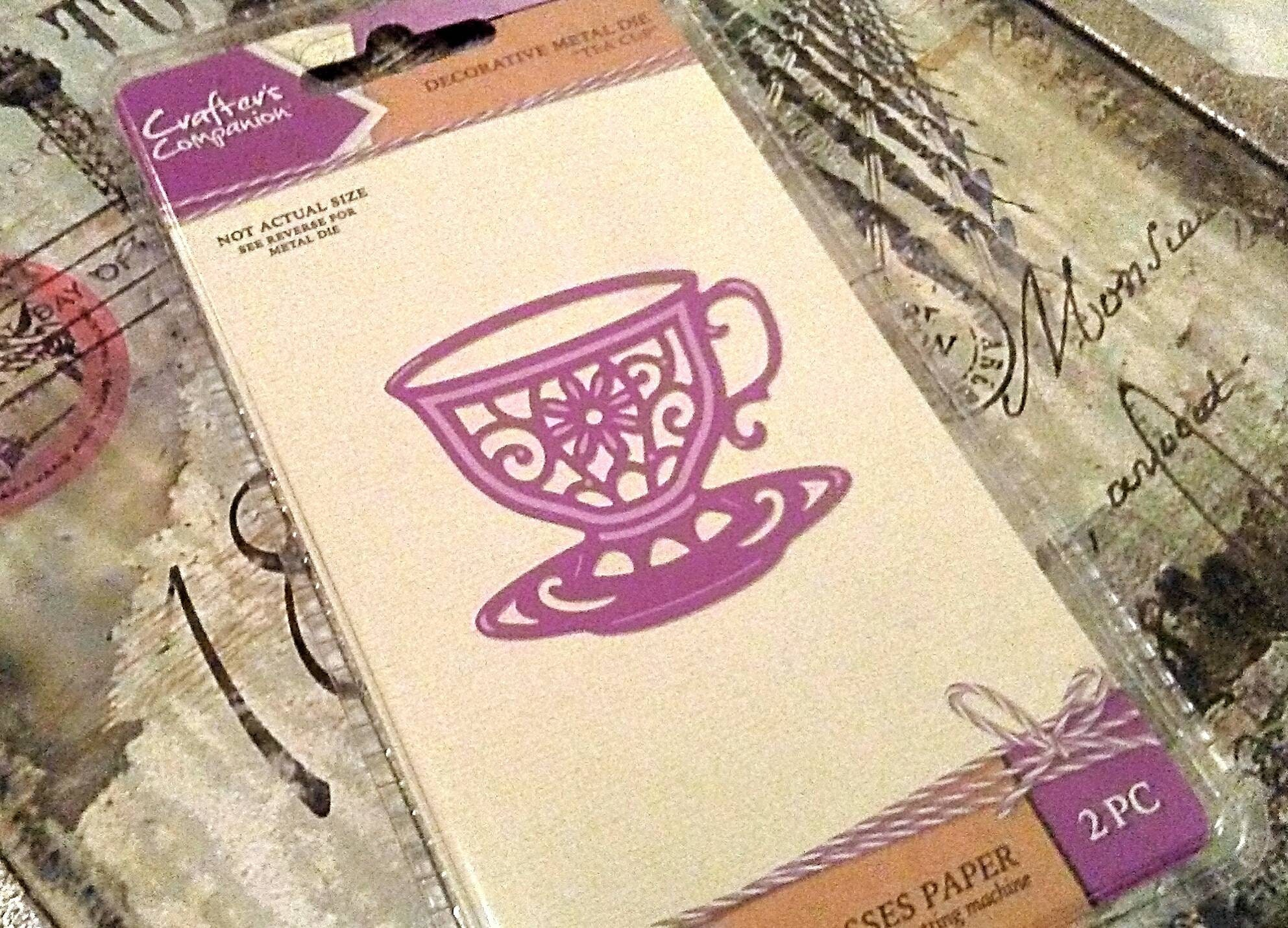 Crafter's Companion Cut and Emboss Die ~Tea Cup~ 1 7