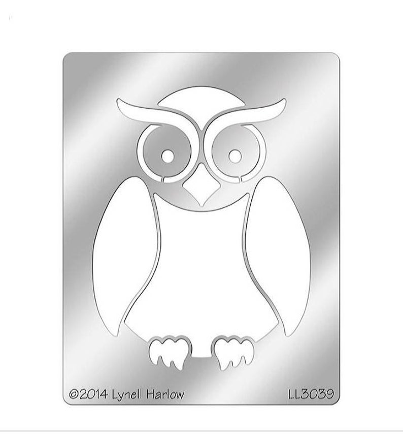Stampendous Metal Stencil Owl Buddy Stencil by Lynell Harlow LG 751