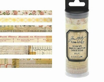Tim Holtz Idea-ology 8 pc Designer Washi Tape Sets ~Remnants~