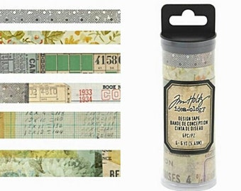 Tim Holtz Idea-ology 8 pc Designer Washi Tape Sets ~Collector~