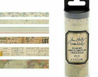 Tim Holtz Idea-ology 8 pc Designer Washi Tape Sets ~Elementary~
