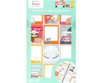 Craft Smith Sweet Kawaii Designs Sticker Book - Travel 857 pc