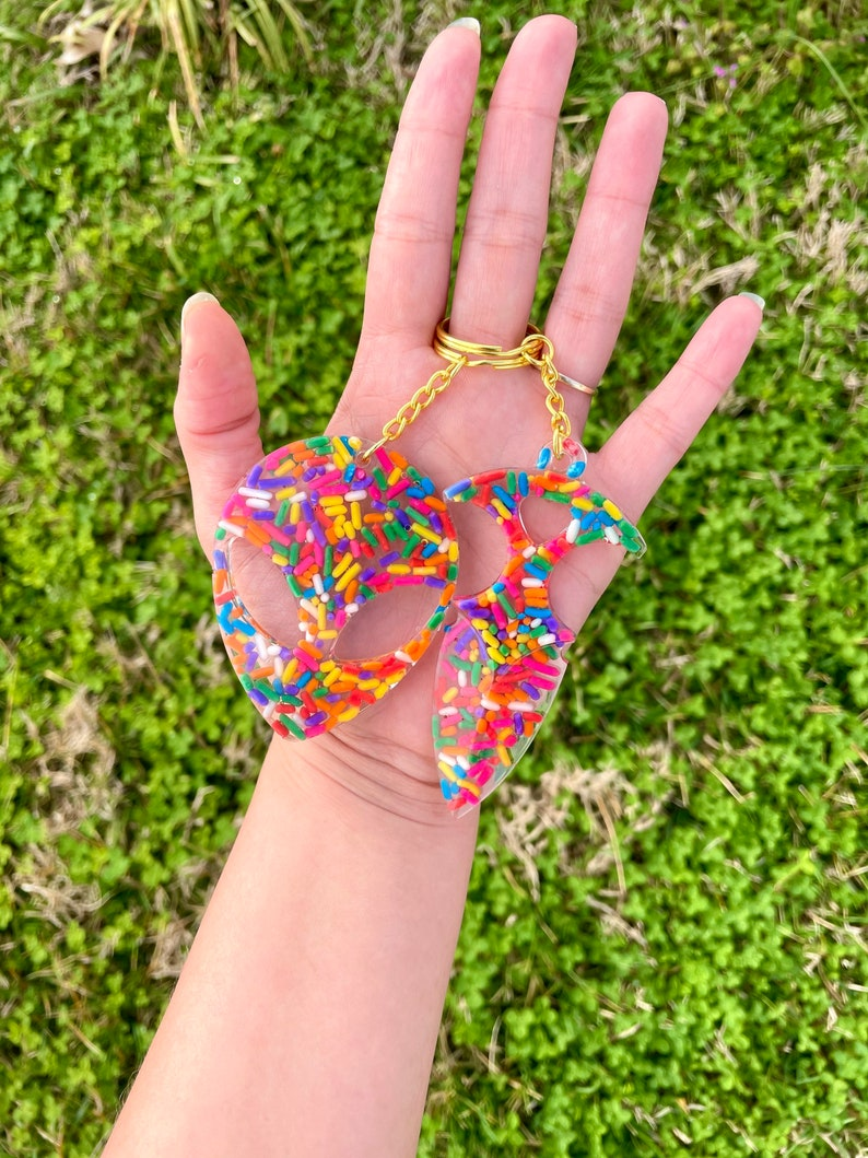 Sprinkles alien space creature novelty letter opener resin gift set rainbow sprinkles hands free no touch tool multipurpose keychain