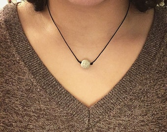 Essential Oil Diffuser Lava Stone Necklace