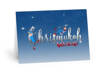 Chrismukah Holiday Greeting Cards (5 Pack)