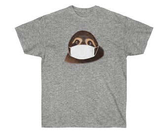Sloth in a Mask Unisex Ultra Cotton Tee