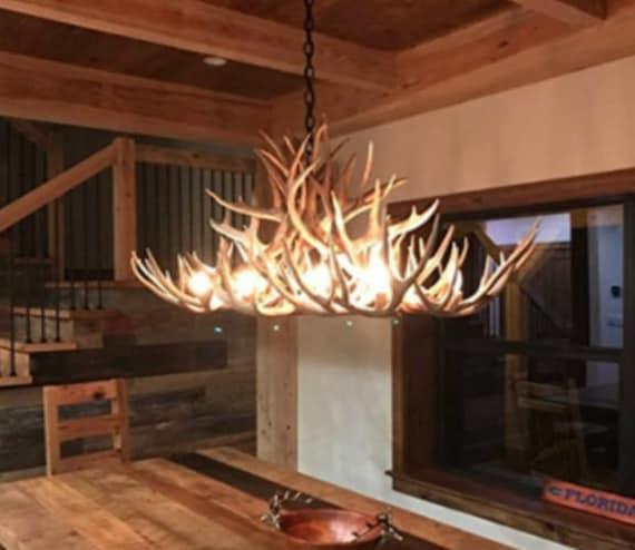 real antler chandelier faux deer antler image real antler chandelier rustic pendant etsy