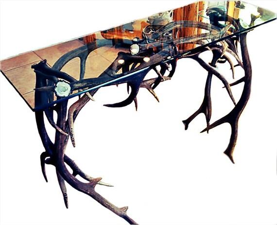 Couchtisch Elch Geweih Möbel Möbel rustikalen Tisch Geweih | Etsy