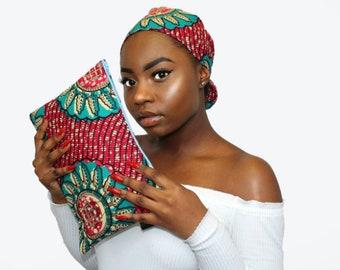 MIRAYA Clutch & Headwrap Set