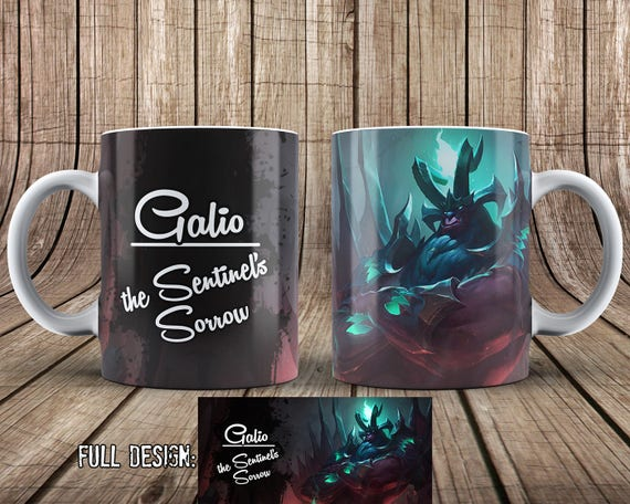 Galio Mug League of Legends Coffee Mug COLOR CHANGING Full | Etsy